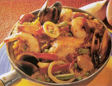 arroz con pollo y marisco